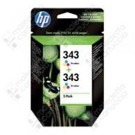 Cartuccia Originale HP 343 - CB332EE - Colori - Dual Pack