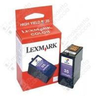 Cartuccia Originale LEXMARK 35XL - 18C0035E - Colori - 21ml - 500 Pagine