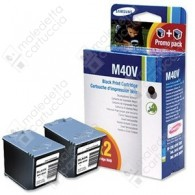 Cartuccia Originale SAMSUNG M40V - INK-M40V/ELS - Nero - Dual Pack - 2 x 17ml - 2 x 750 Pagine