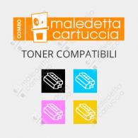 Combo Toner Compatibili OKI 821 - Nero + Colori