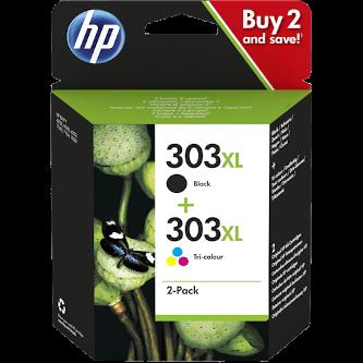 Cartuccia Originale HP 303XL MultiPack - 3YN10AE colore Nero + Colori - Multi Pack