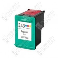 Cartuccia Ricostruita HP 343 - C8766EE - Colori