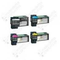 Toner Compatibile LEXMARK C540H2YG - Giallo - 2.000 Pagine
